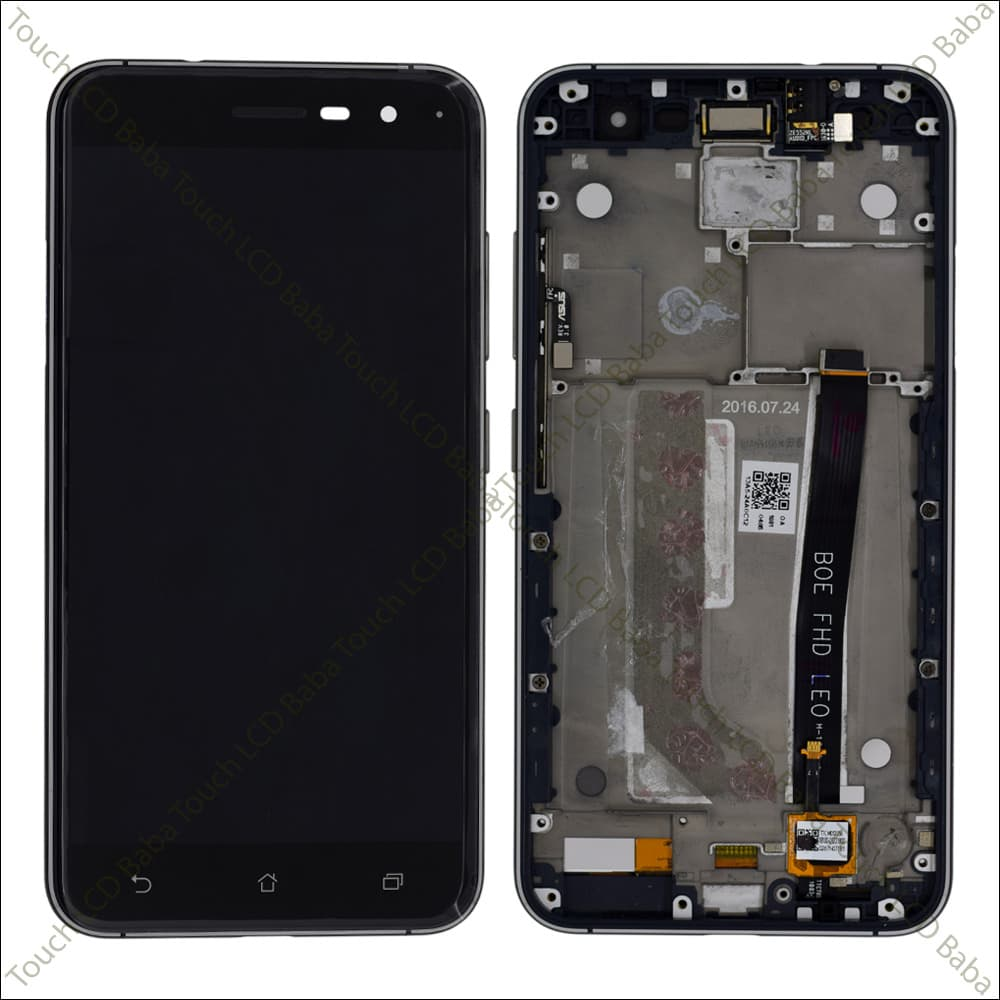 Zenfone 3 ZE520KL Display and Touch Screen Glass With frame