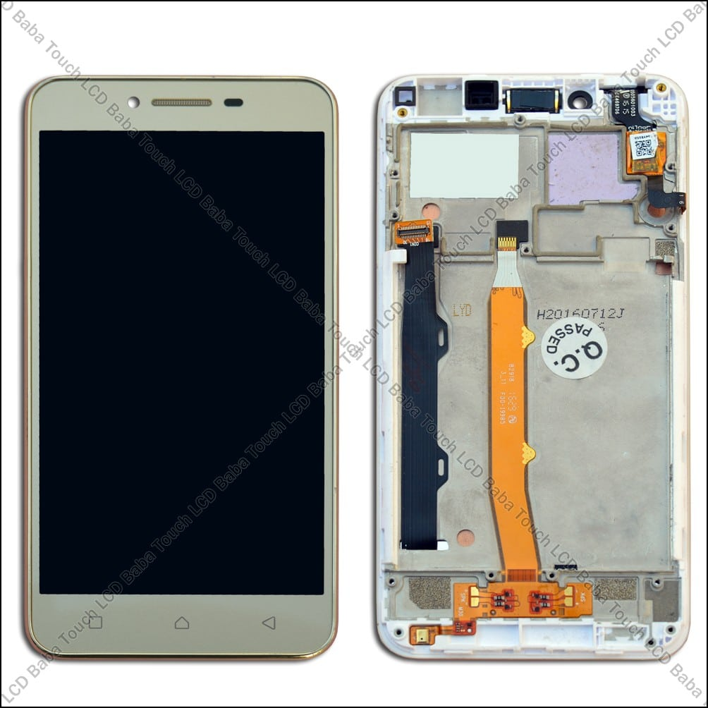 Lenovo Vibe K5 Plus A6020a46 Display And Touch Screen Glass With Frame