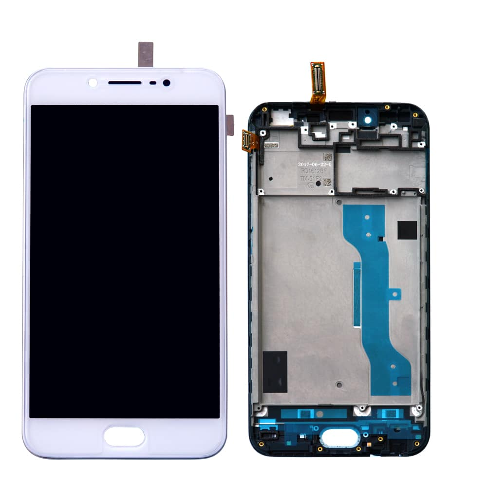 new arrivals cfe2c 7dcf7 100% Original Vivo V5 Display and Touch Screen Glass With Frame